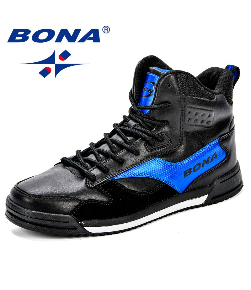 BONA New Style Men Skateboarding Shoes Man Lovers Flat With Walking Sport Shoes Microfiber Outdoor Athletic Sneakers Shoes