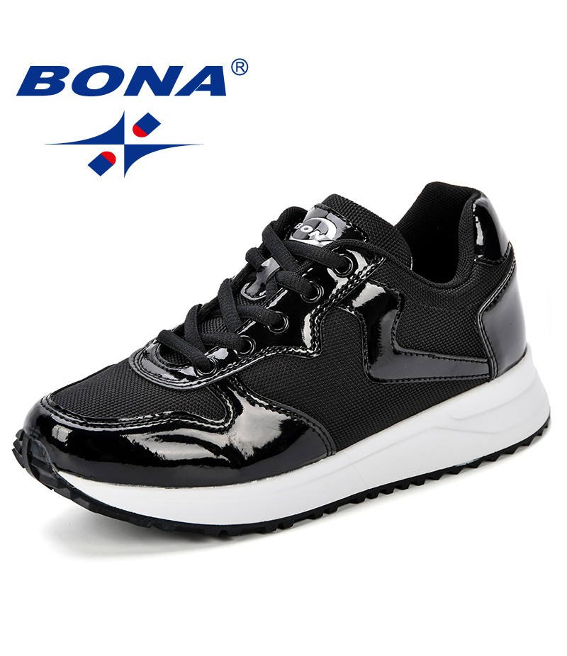 BONA New Designer Running Shoes Women Outdoor Sneakers Comfy Sport Shoes Female 2018 Breathable Trendy Zapatillas Hombre Mujer