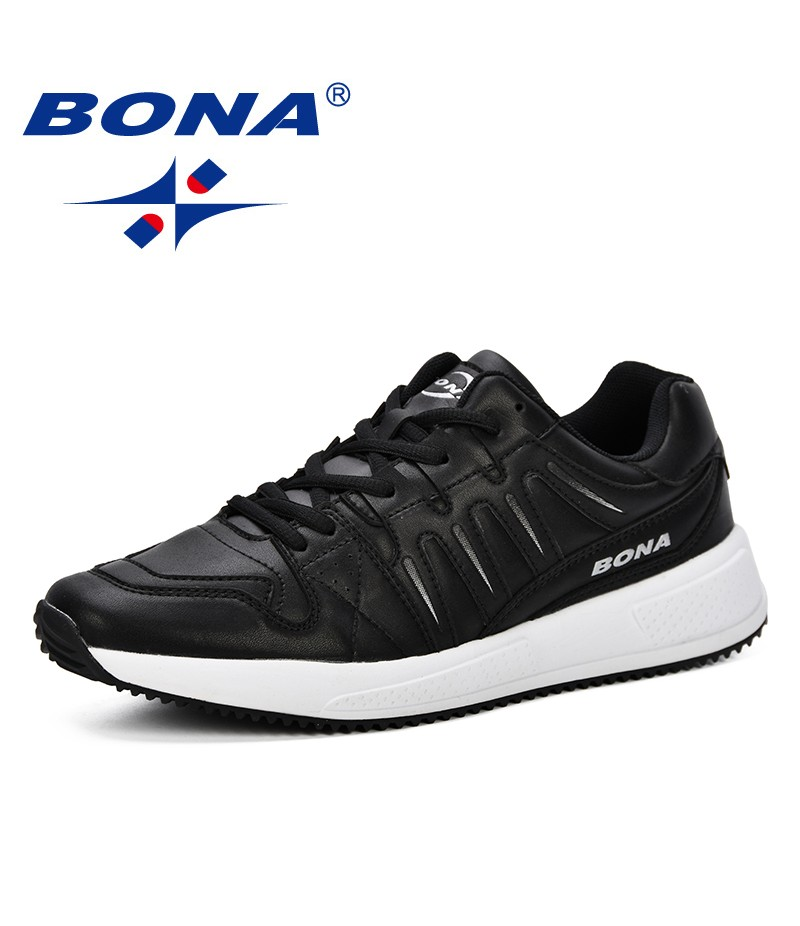 BONA New Style Spring Summer Lightweight Shoes Fashion Men Breathable Sneakers Lovers Lace Up Flats Shoes Zapatos De Hombre