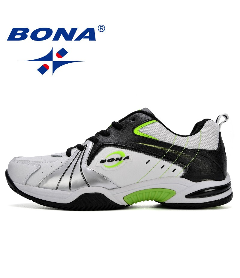 BONA New Designer Popular Style Men Tenis Shoes Leather Outdoor Jogging Shoes Athletic Shoes Lace Up Trendy Sneakers Shoes