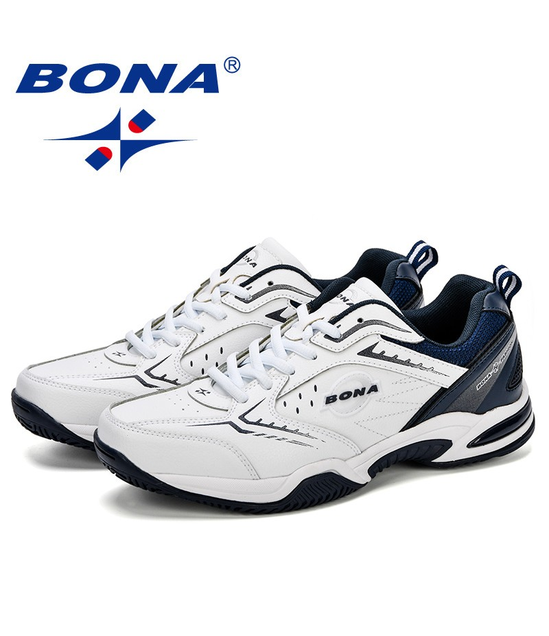BONA New Arrival Popular Style Men Tenis Shoes Leather Men Athletic Shoes Outdoor Jogging Sneakers Shoes Trendy Comfortable Shoe