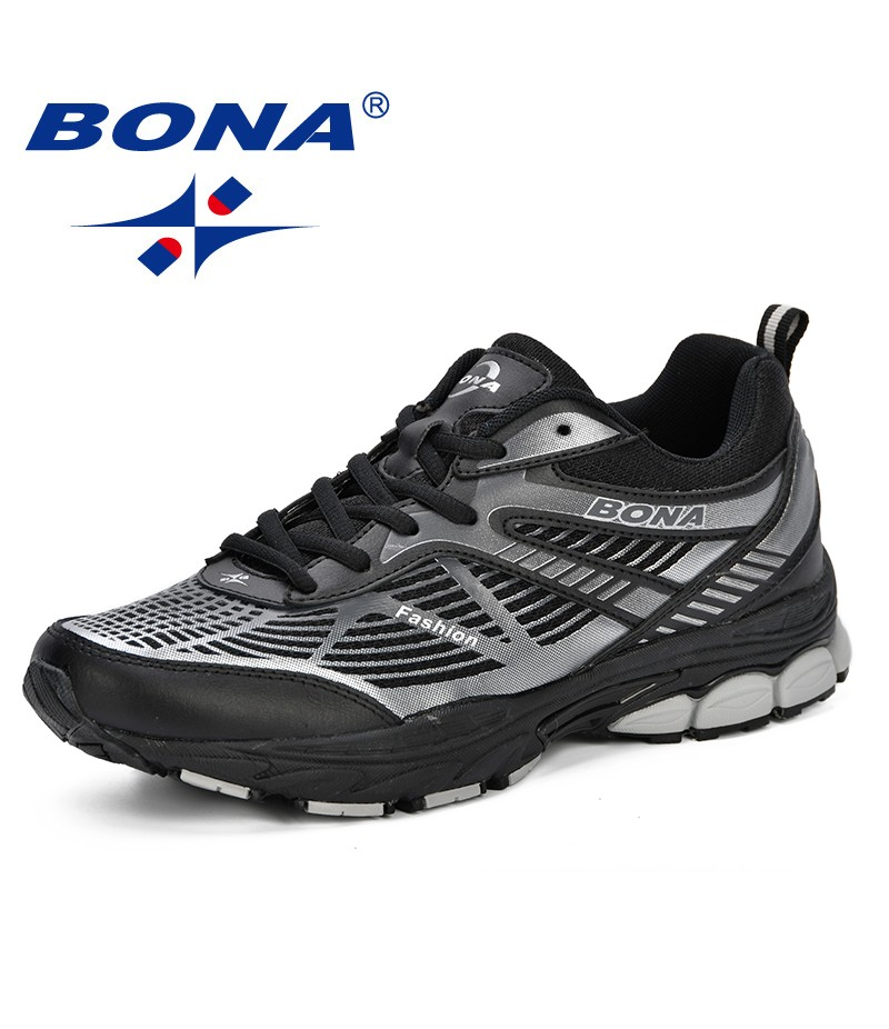 BONA 2019 New Men Mesh Breathable Casual Sneakers Spring & Autumn Running Shoes Man Trendy Chaussures Hommes Zapatos # 35082