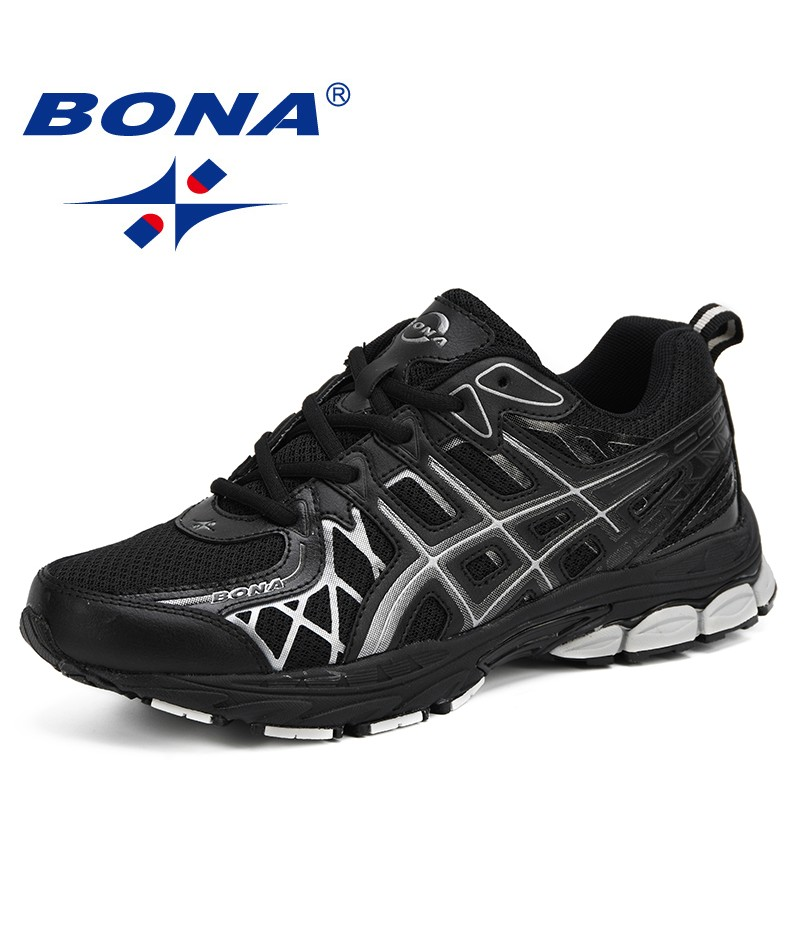 BONA New Men Mesh Breathable Casual Sneakers Autumn Winter Outdoor Jogging Running Shoes Chaussures Yommes Zapatos Sport Shoes