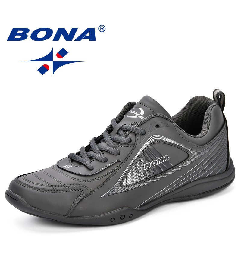 BONA Man Footwear Breathable Shoes For Men Sneakers Spring Autumn Trainers Lace-Up Sapato Masculino Walking Shoes Zapatos Hombre