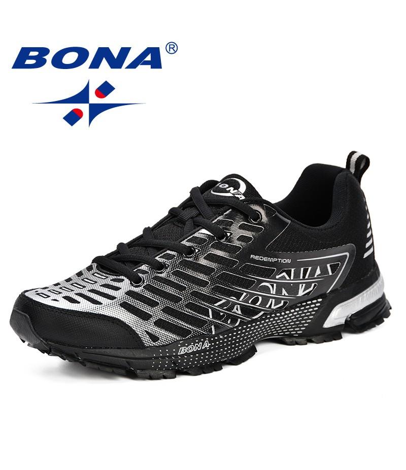 BONA New Men Casual Shoes Brand Men Shoes 2019 Men Sneakers Flats Mesh Lace Up Loafers Comfortable Breathable Plus Big Sizes
