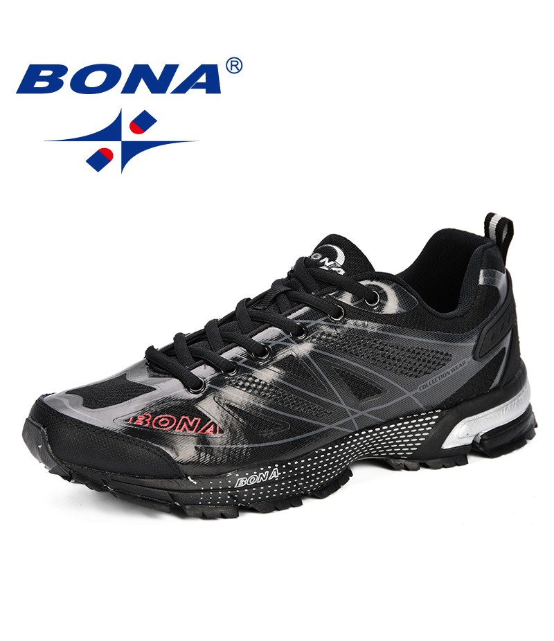 BONA New Fashion Outdoor Men Casual Shoes Trendy Comfortable 2019 Mens Sneakers Breathable Lightweight Man Walking Trainers