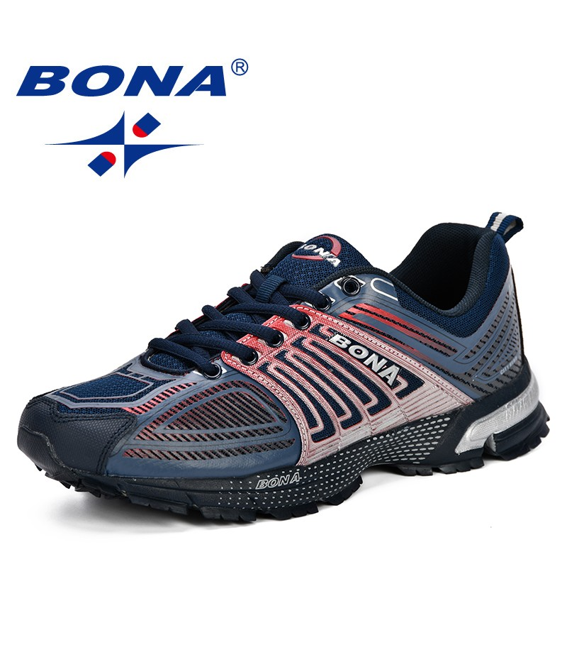 BONA Chinese Shoes manufacture  Outdoor Men Casual Shoes Adult Comfortable Mens Sneakers 2019 Breathable Lightweight Man Walking Trainers Shoes