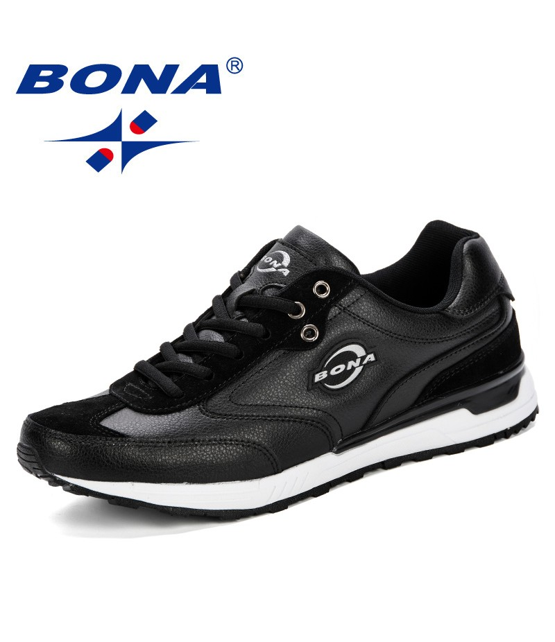 BONA Men New Style Running Shoes Breathable Sneakers Male Sport Shoes Outdoor Athletic Shoes Adult Trainers Zapatillas Hombre