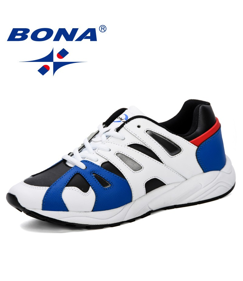 BONA Men's Running Shoes Increasing Male Jogging Homme Sports Casual Walking Brand Sneakers Shoes Outdoor Men Athletic Shoes