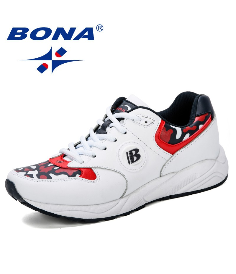 BONA 2019 New Fashion Sneakers Spring Autumn Casual Student Outdoor Trend Skateboarding Shoes Track Field Walking Running Shoes
