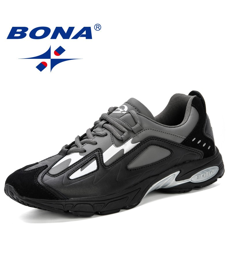 BONA 2019 spring Autumn New Designer Running Shoes Sneakers/Tranier Breathable Sports Shoes Walking AthleticsTrainers Shoes Men