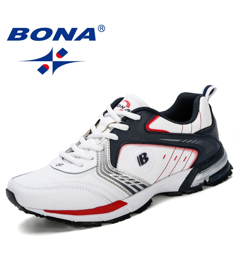 BONA 2019 Running Shoes Men Fashion Outdoor Light Breathable Sneakers Man Lace-Up Sports Walking Jogging Shoes Man Comfortable