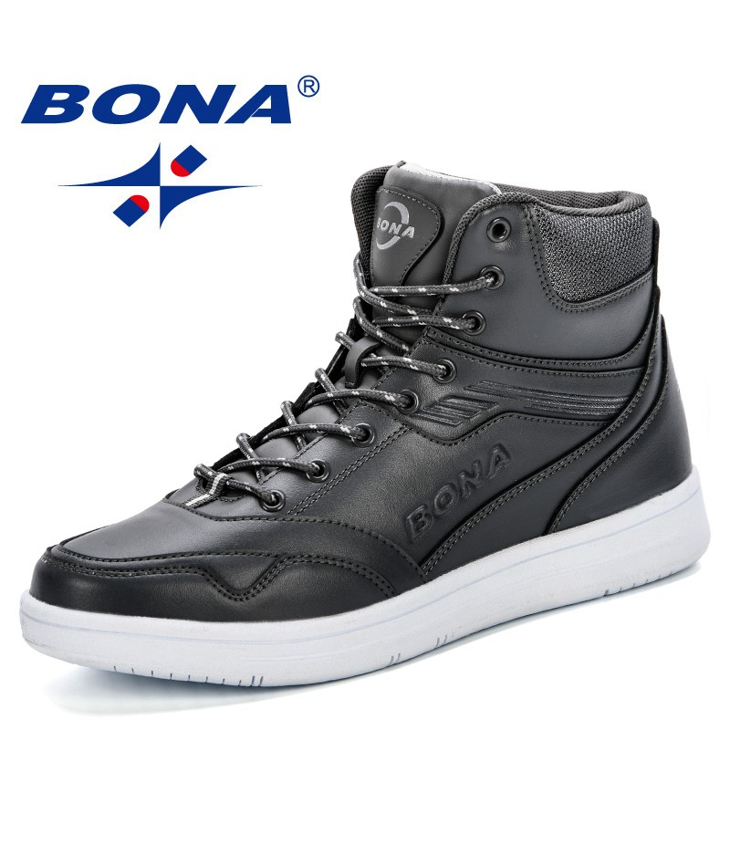 BONA New Style Men Boots Fashion Microfiber Men Shoes 2019 Spring & Autumn Trendy Footwear For Man High Top Casual Shoes Outdoor