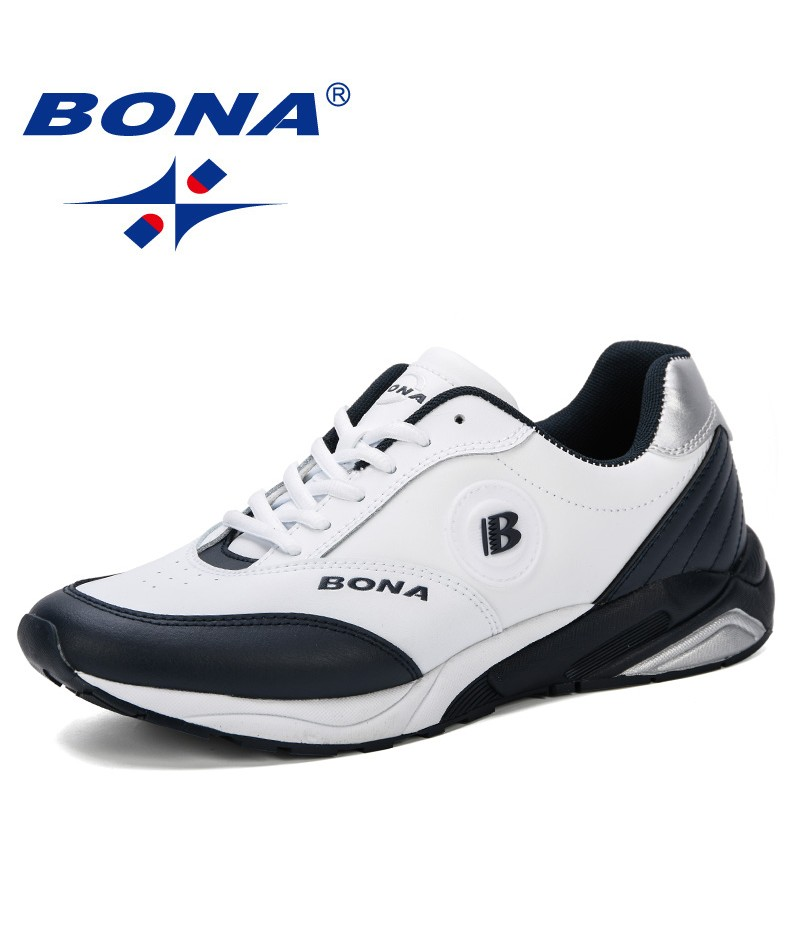 BONA Mens Fashion Sneakers 2019 Spring Autumn Loafers Student Outdoor Trend Skateboarding Shoes Track Field Walking Promotion