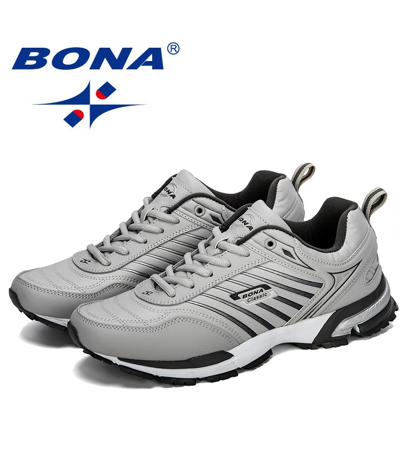 BONA 2019 New Designer Men Running Shoes Sports Men Trainers Outdoor Baskets Zapatos Corrientes Athletic Shoes Man Comfortable