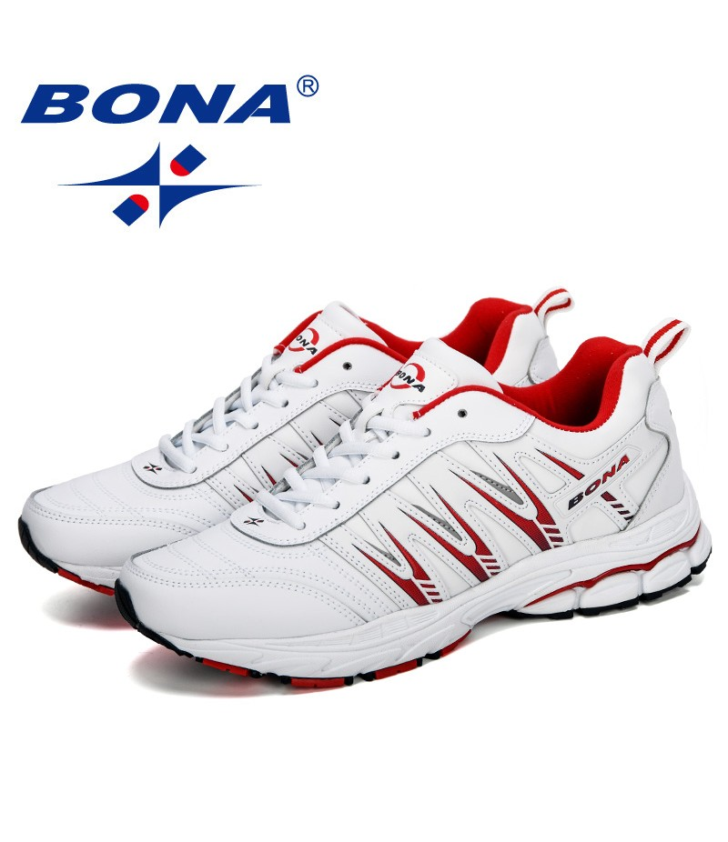 BONA 2019 New Style Men Running Shoes Breathable Outdoors Sports Shoes Male Zapatos Lightweight Athletic Man Sneakers Shoes