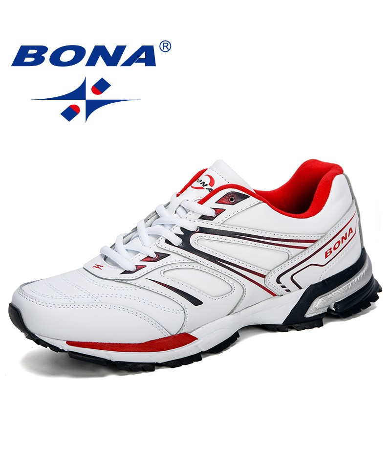 BONA 2019 New Style Men Running Shoes Breathable Outdoor Sports Shoes Sneakers Comfortable Athletic Training Footwear Men Trendy