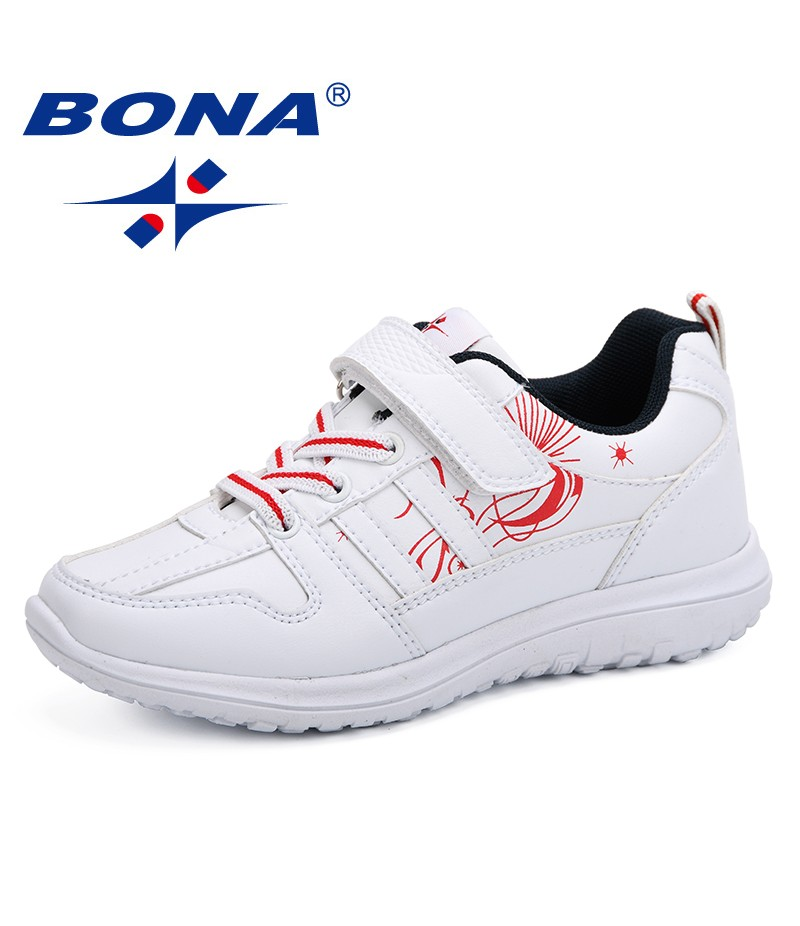 BONA 2019 Spring Autumn Children Shoes Girl Sports Shoes Fashion Brand Casual Breathable Outdoor Kids Sneakers Boy Running Shoes