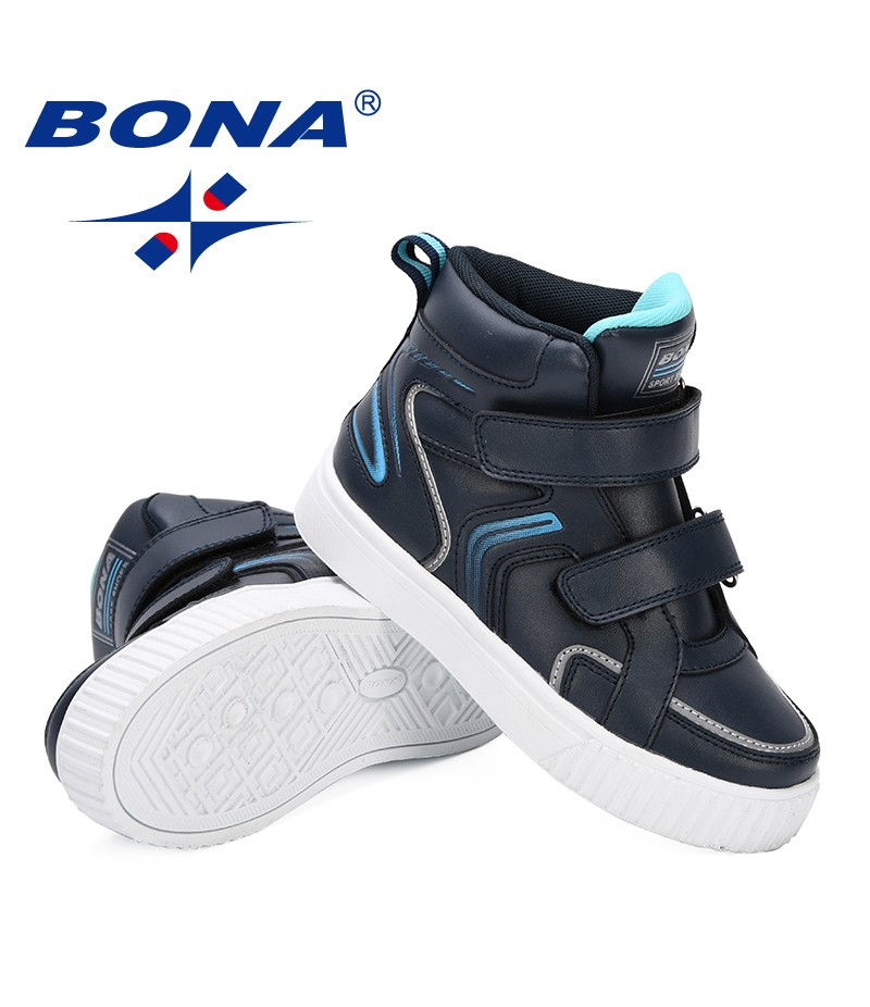 BONA 2019 Unisex Spring/Autumn New Children Shoes Fashion Sneakers Comfortable Classic Casual Shoes Boys High-Top Shoes Girls
