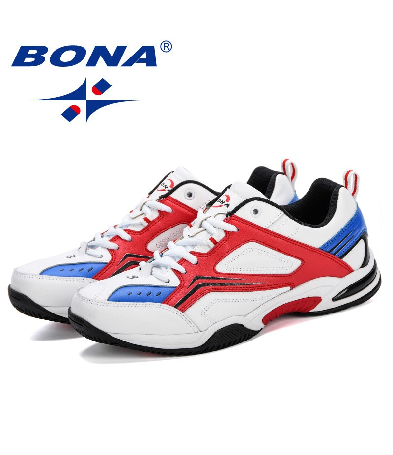 BONA Tenis Masculino Men Professional Tennis Shoes Breathable Sport Shoes Anti-Slippery Sneakers Fitness Athletic Trainers Comfy