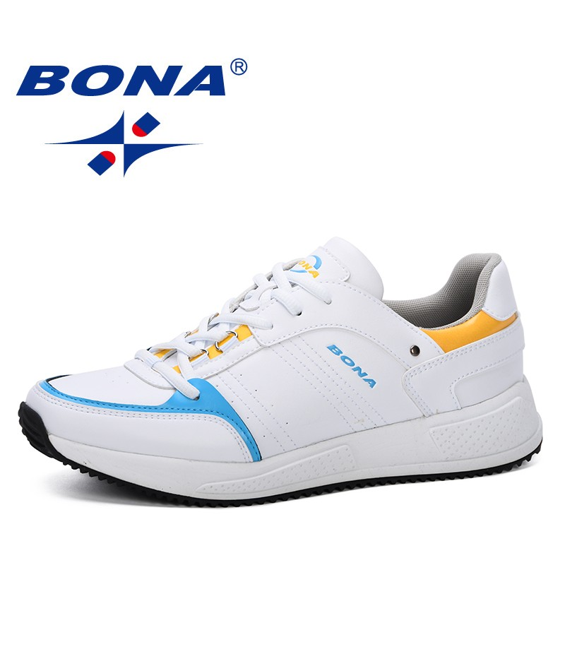 BONA 2019 New Style Sneakers Shoes Men Comfortable Casual Loafers Shoes Zapatillas Deportivas Sapato Masculino Male Shoes Trendy