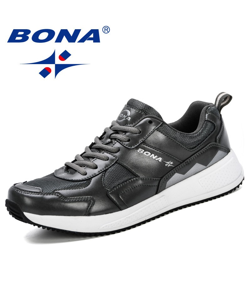 BONA 2019 Running Shoes Jogging Sports Shoes Men Light Weight Outdoor Fitness Summer Breathable Training Male Sneakers Shoes