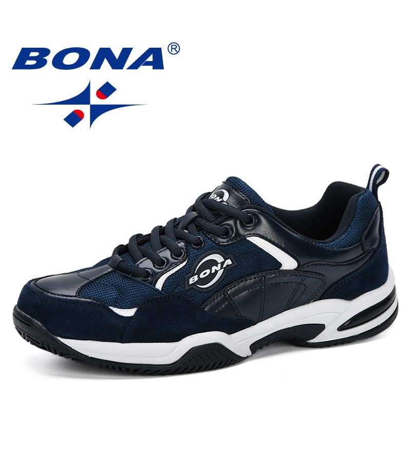 BONA 2019 New Designer Fashion Style Shoes Men Breathable Sneakers Shoes Outdoors Men Casual Vulcanize Shoes Comfortable Trendy