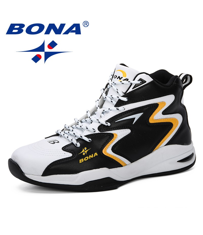 BONA 2019 New Popular Thick Sole Men Basketball Shoes Sneakers Footwear Male Sport Shoes Outdoor Boys Basket Ball Shoes Men