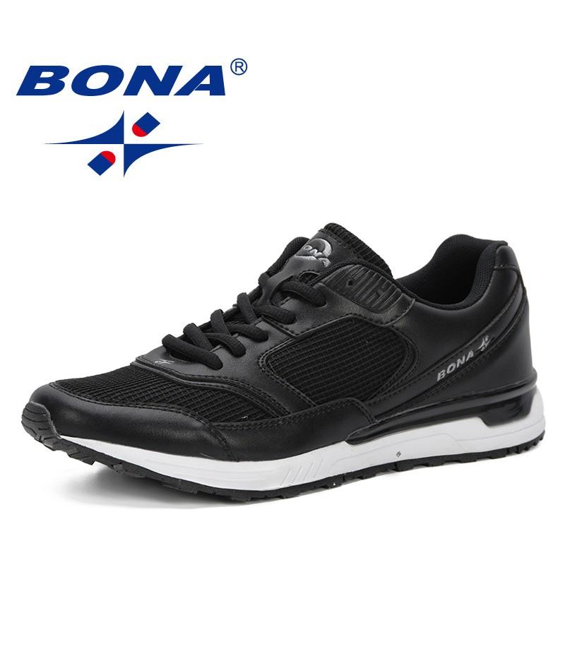 BONA Men Shoes 2019 New Man Casual Shoes Fashionl Men Sneakers Lace-up Men Vulcanize Shoes Comfortable Spring Autumn Flat Shoes