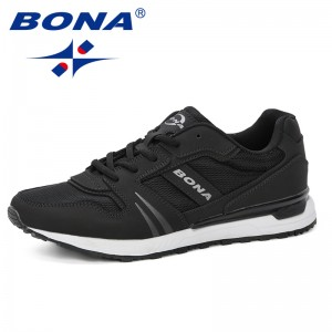 BONA 2019 Men Casual Shoes Breathable Male Shoes Masculino Shoes Zapatos Hombre Sapatos Outdoor Shoes Sneakers Men Comfortable