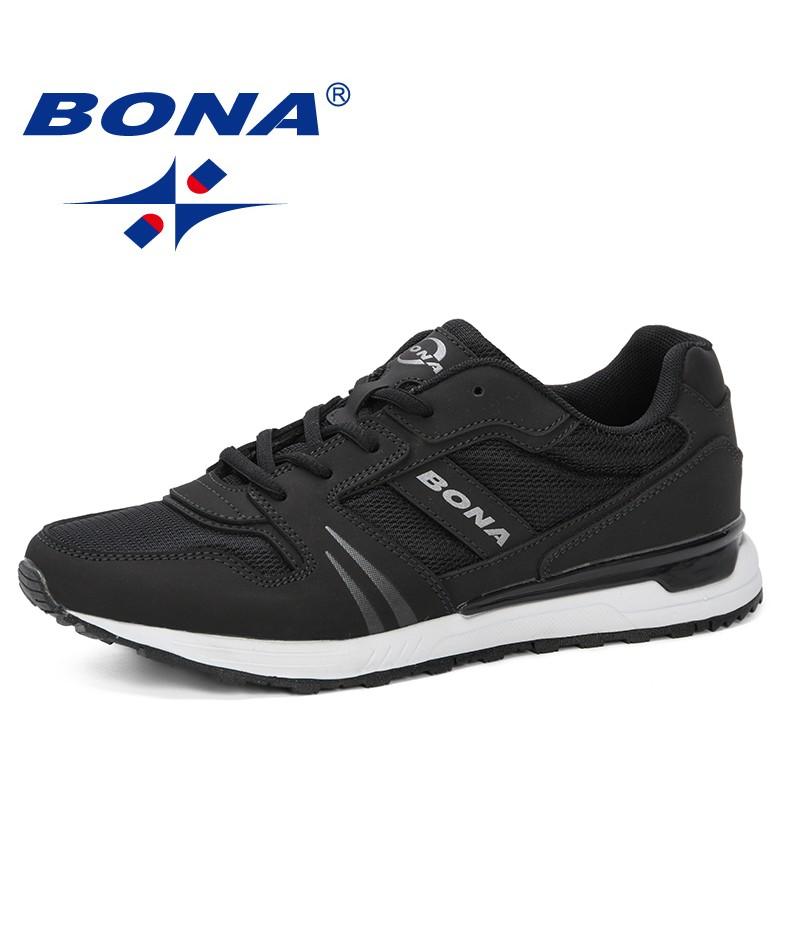 BONA 2019 Men Casual Shoes Breathable Male Shoes Masculino Shoes Zapatos Hombre Sapatos Outdoor Shoes Sneakers Men Comfortable