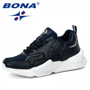 BONA 2019 New Designer Popular Women Sneakers Fashion Thick Bottom Womens Platform Casual Shoes Outdoor Trendy Zapatos De Mujer
