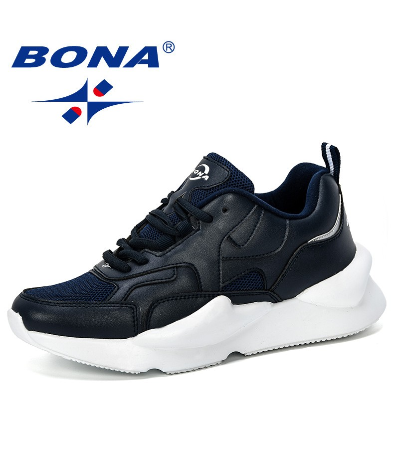 BONA 2019 New Designer Popular Women Sneakers Fashion Thick Bottom Womens Platform Casual Shoes Outdoor Trendy Zapatos De Mujer