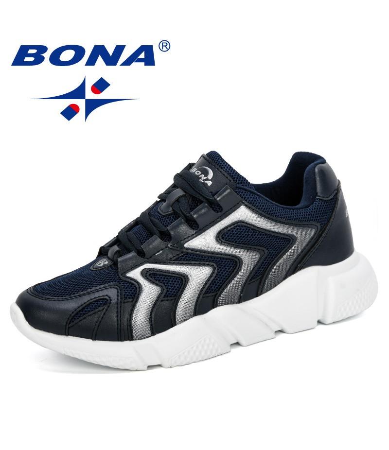 BONA 2019 Women Spring Autumn Sneakers Women Fashion Brand Retro Platform Shoes Ladies Breathable Mesh Casual Shoes Comfortable