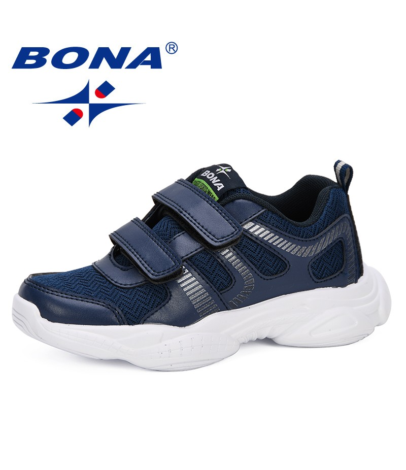 BONA 2019 Kids Sneakers Shoes Running Sport Children Walking Shoes Boys Girls Breathable Mesh Anti-Slip Kids Shoes Comfortable