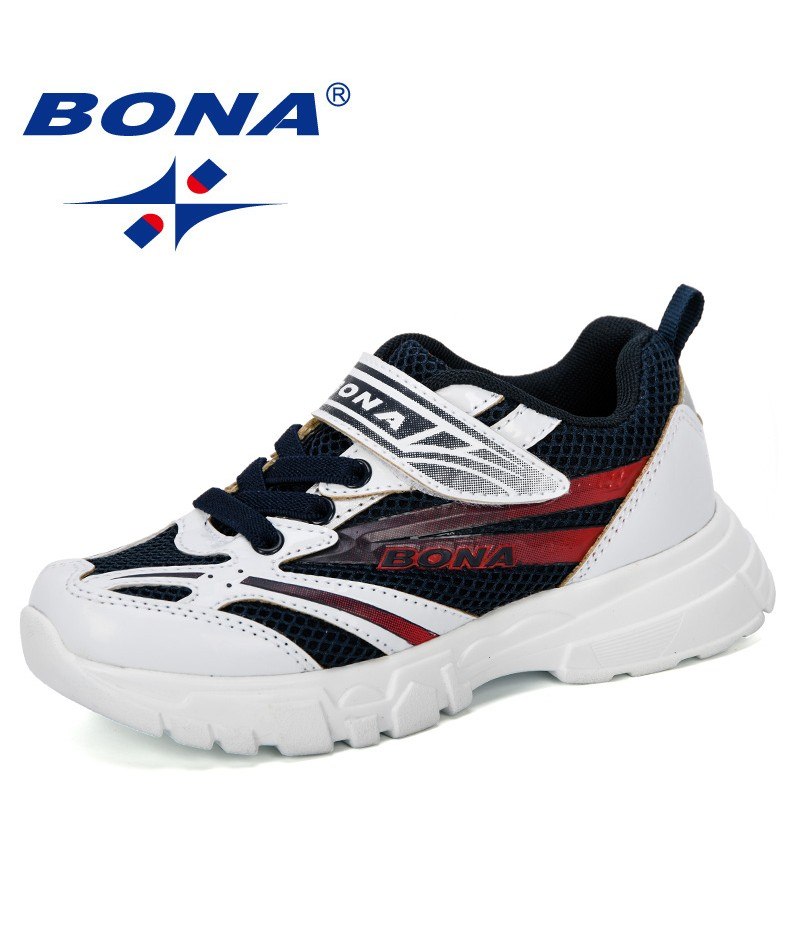 BONA 2019 New Designer Fashion Style Running Shoes Kids Outdoor Sneakers Children Sports Shoes School Mixed Color For Boys Girls