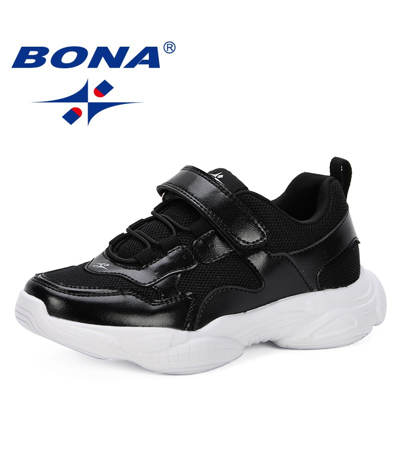 BONA 2019 Spring Autumn Children Shoes Boys Girls Air Cushion Shoes Comfortable Kids Fashion Sneakers Child Sports Shoes Trendy