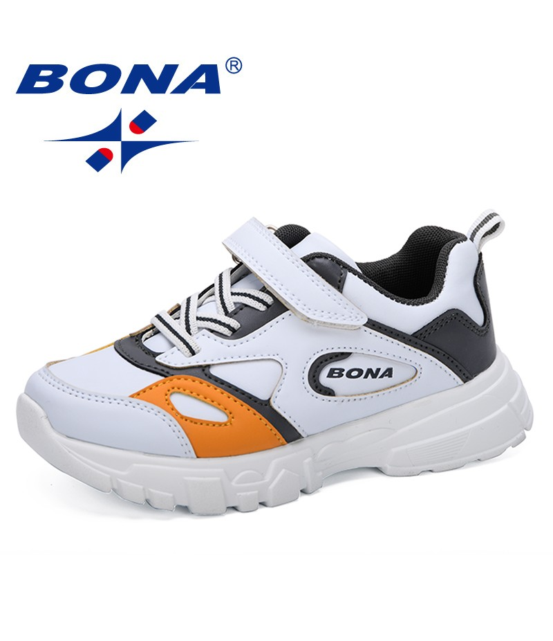 BONA 2019 Children Sport Shoes Spring Autumn New Fashion Breathable Kids Boys Shoes Girls Anti-Slippery Sneakers Baby Shoes