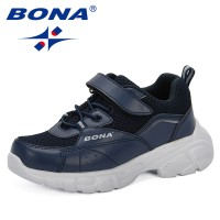 BONA 2019 New Design Children Shoes For Boys Spring/Autumn Mesh Kids Sport Shoes Soft and Breathable Boys Sneakers Shoes Trendy