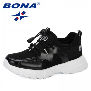 BONA 2019 New Kids Shoes For Boys Girls Children Casual Sneakers Outdoor Air Mesh Breathable Soft Running Sports Shoes Trendy