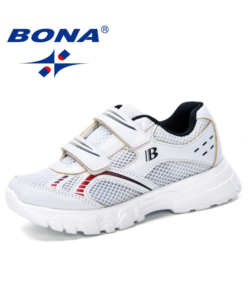 BONA 2019 New Style Children Outdoor Shoes Girls Boys Breathable Sneakers Kids Sport Running Shoes Kids Casual Shoes Comfortable