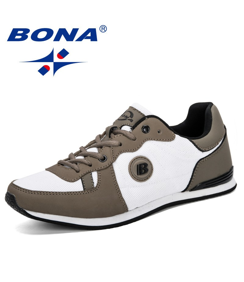 BONA 2019 New Classics Style Men Breathable Krasovki Shoes Light Casual Shoes Male Tenis Masculino Sneakers Man Leisure Footwear