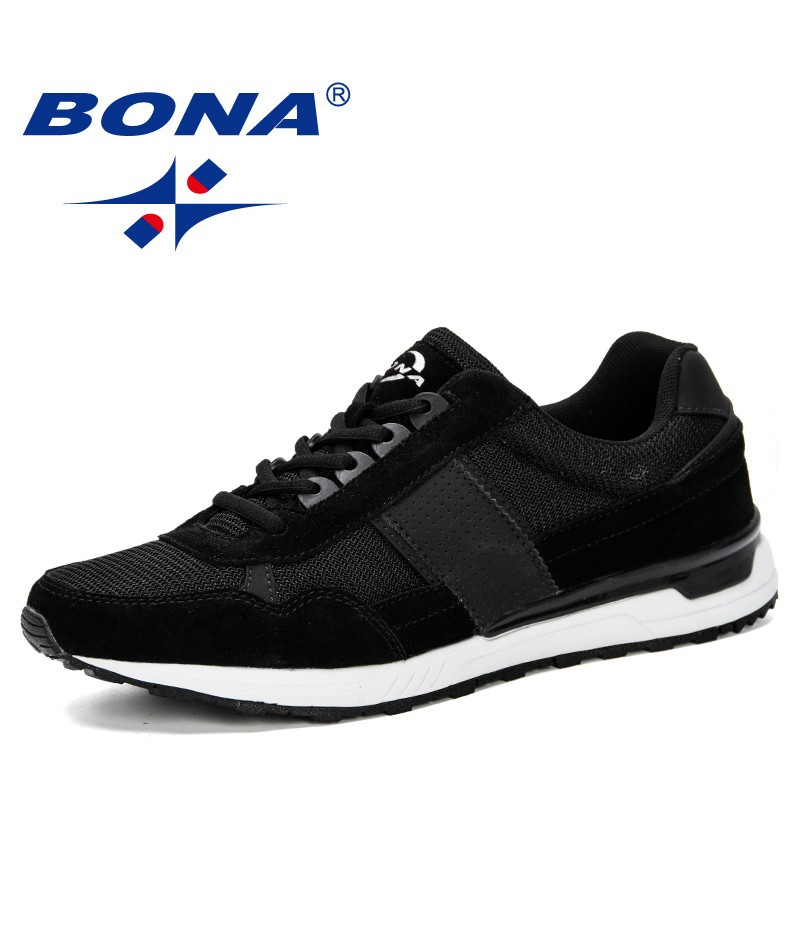 BONA 2019 Men's Running Shoes Breath Mesh For Adults Shoes All Season Keep Running Series Outdoor Fitness Jogging Trainers Shoes