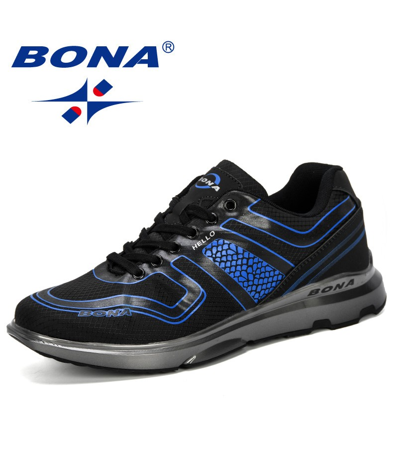 BONA 2019 New Designer Men Casual Shoes Man Trainers Sneakers Shoes Male Outdoor Leisure Footwear Tenis Masculino Adulto Trendy