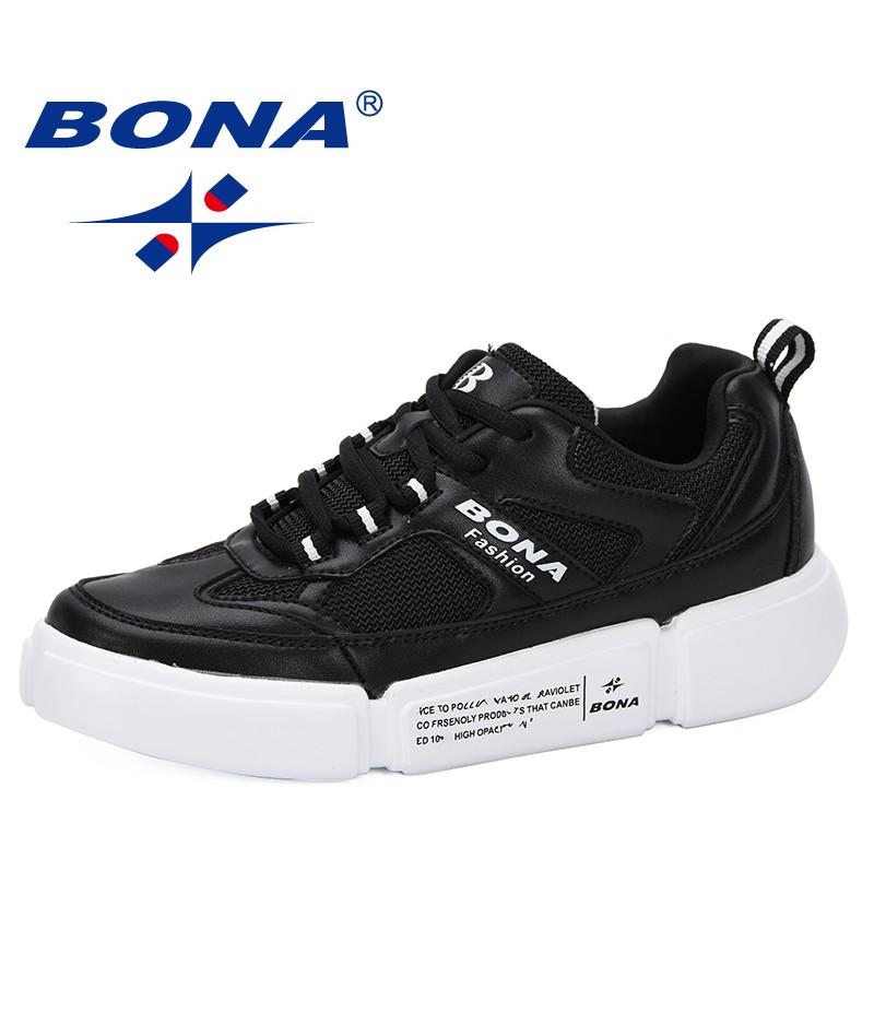 BONA 2019 Spring Autumn Casual Sneakers Women Fashion Lightweight Ladies Flat Shoes Outdoor Vulcanize Shoes Couple Zapatillas