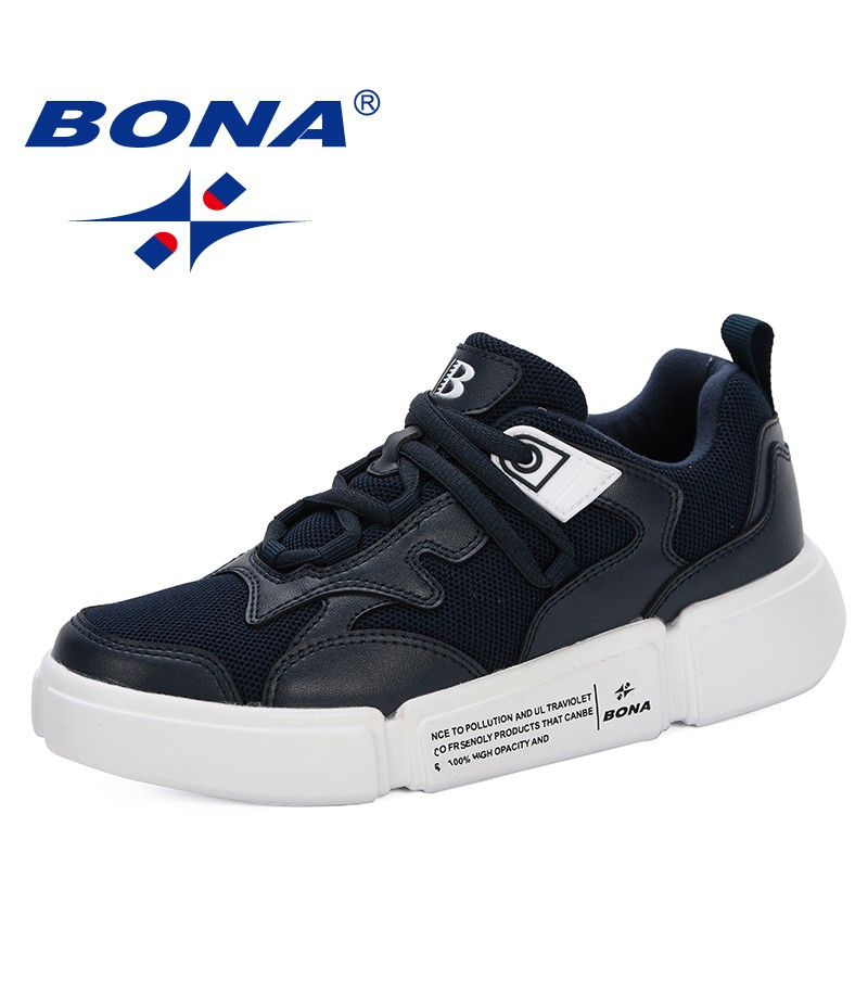BONA 2019 Casual Shoes Femme Spring Autumn Shoes Women Sneakers Flats Fashion Lace-Up Breathable Ladies Casual Shoes Trendy