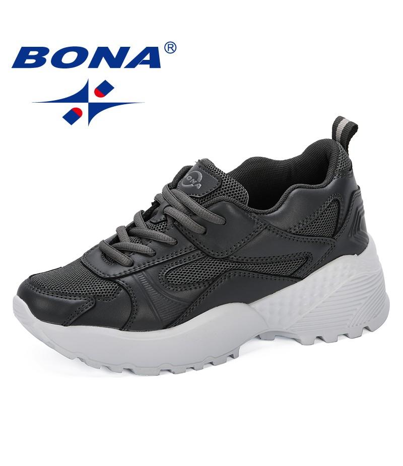 BONA 2019 Zapatos Mujer Woman Sneaker Tenis Feminino Fashion Classic Wedges Shoes ladies Increasing Sapato Female Comfortable