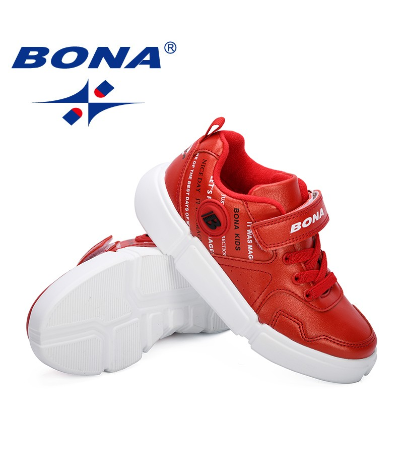 BONA 2019 Children Sport Shoes Autumn Winter New Fashion Breathable Kids Shoes Girls Anti-Slippery Sneakers Boys Casual Shoes