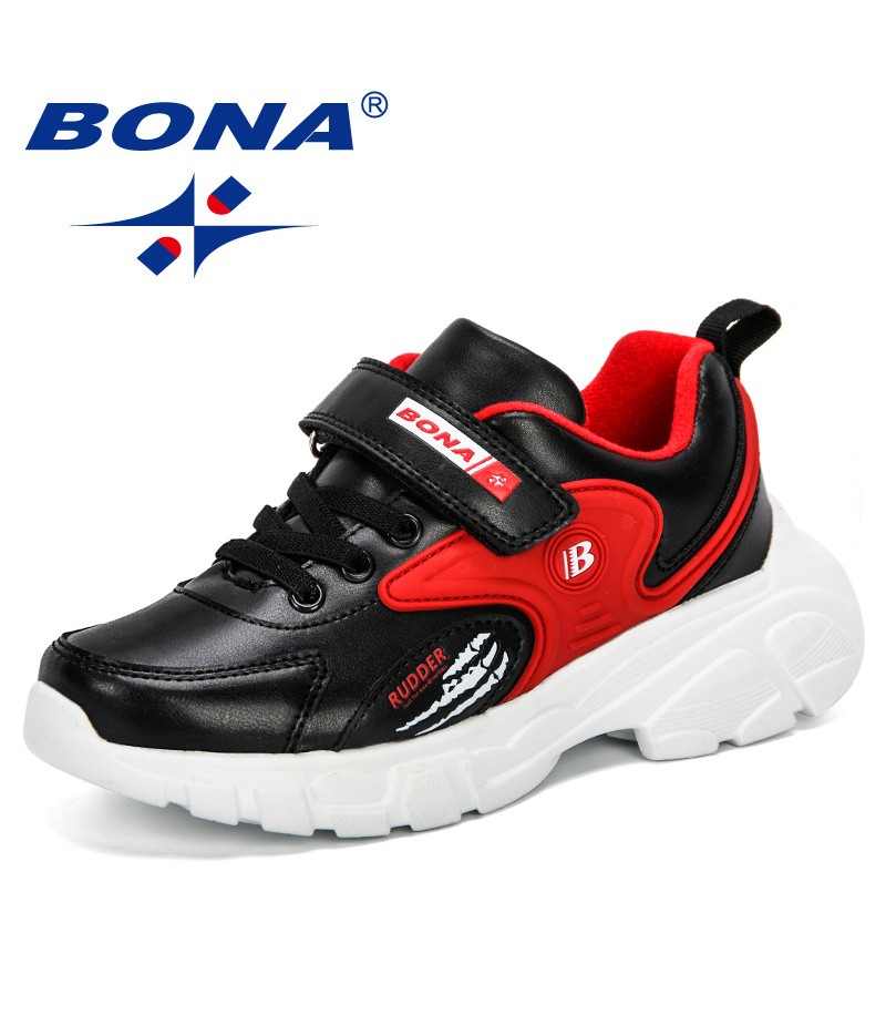 BONA 2019 New Sports Children Shoes Boys Casual Sneaker Fashion School Kids Soft Running Shoes Girls Anti-Slippery Outdoor Comfy