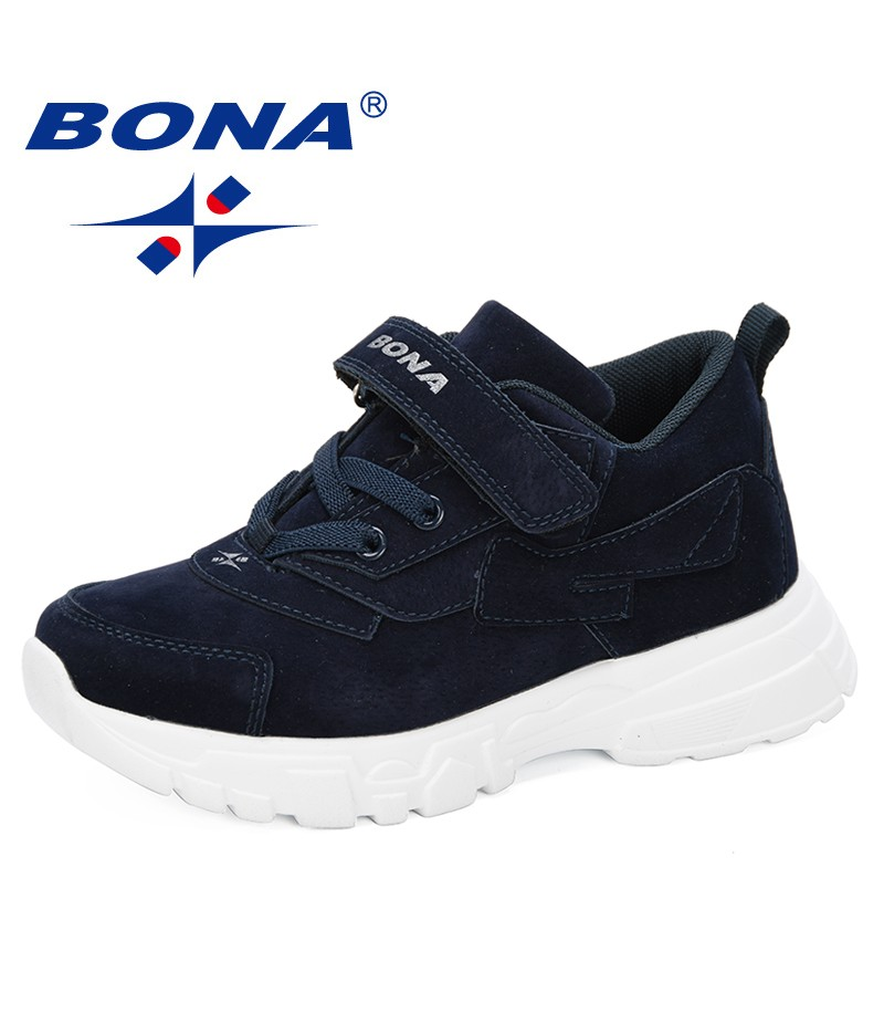 BONA 2019 New Style Kids Shoes Boys Casual Shoes Children Outdoor Sneakers Girls Sport Fashion 2019 Spring Autumn Leisure Shoes